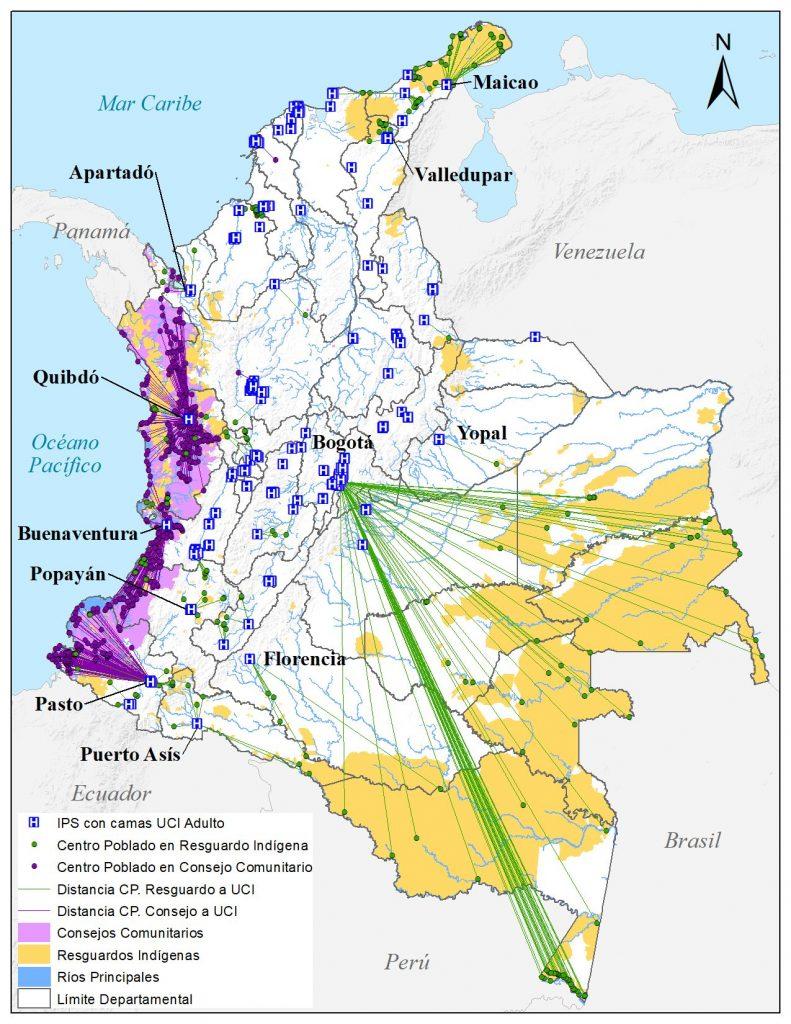 Distancia UCI indigenas colombia