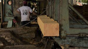 Aserradero de madera en la Amazonía peruana