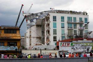 Edificio Residencial San José, en Ciudad de México, que se desplomó en el sismo de 2017