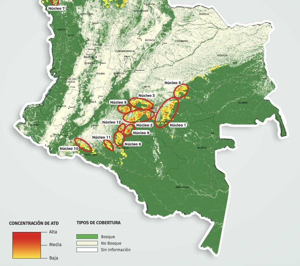 Mapa 3 – Deforestacion