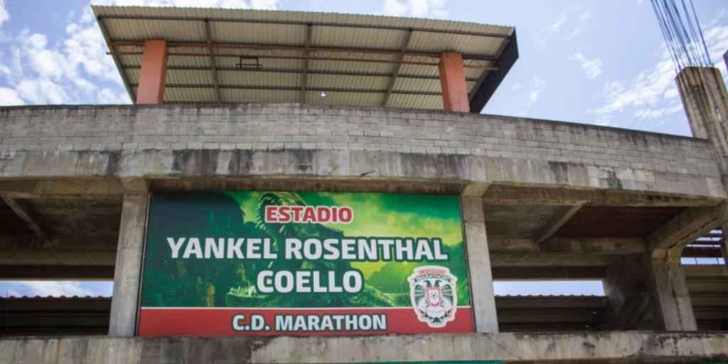 Estadio Yankel Rosenthal, en San Pedro Sula, sede del equipo Marathon FC.