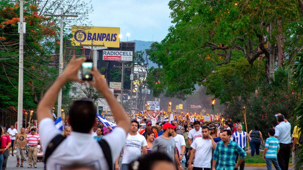 El escándalo del IHSS generó protestas en todo Honduras.
