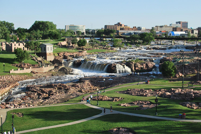 Ciudad de Sioux Falls, Dakota del Sur, que sirvió como paraíso fiscal según los Pandora Papers