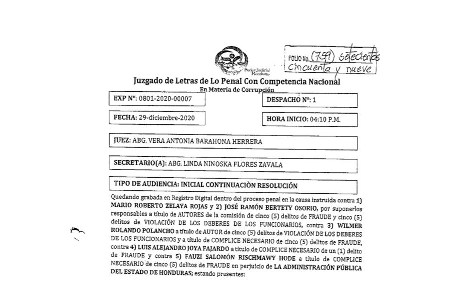 Procesamiento contra Fauzi Rishmawy por desfalco a IHSS